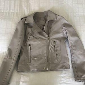 vegan leather Blank NYC moto jacket
